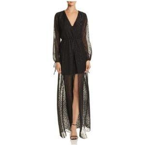 AQUA Open Front Dress